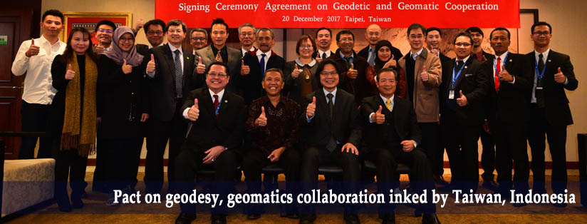 Pact on geodesy, geomatics collaboration inked by Taiwan, Indonesia