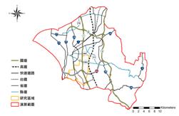 圖7. 演算範圍內交通路網圖