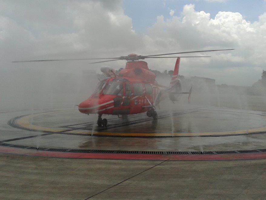 Helicopter cleaning