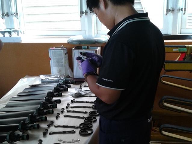 Tail rotor examination