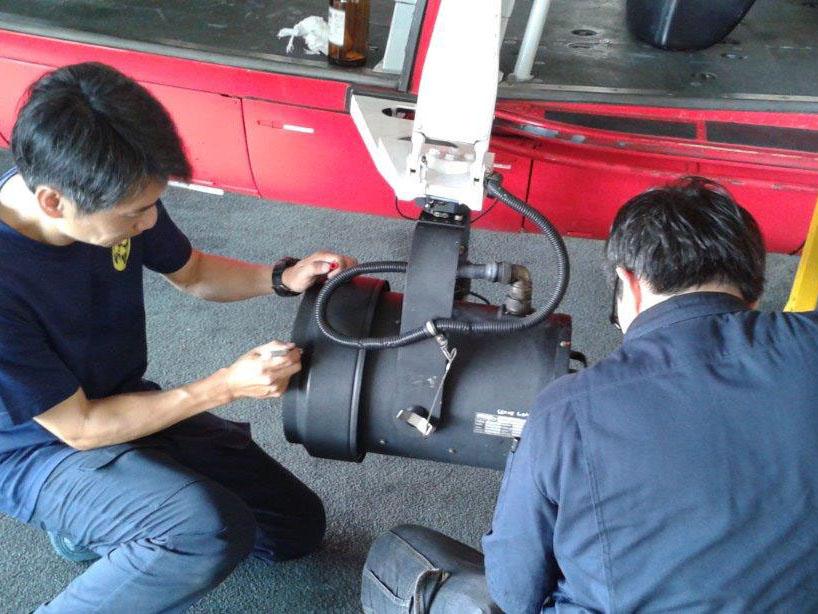 AS365 search light repair