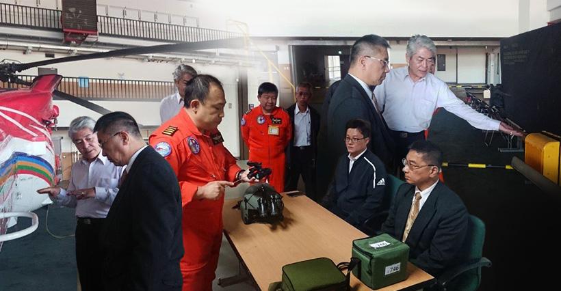 內政部長視導空勤第二大隊,肯定機隊發揮救援能量