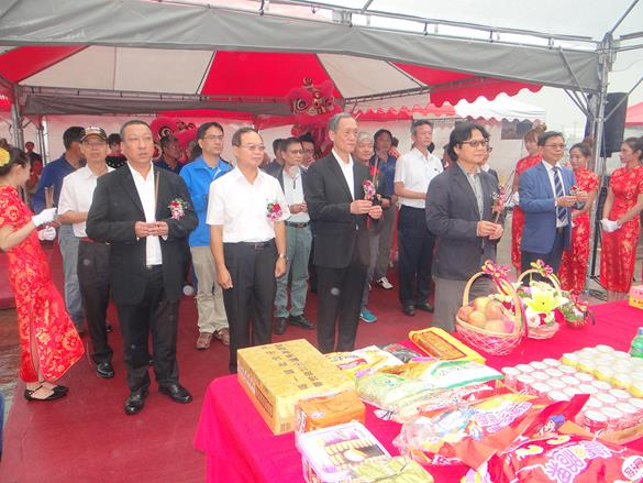 Helicopter hanger site groundbreaking ceremony held in the Kaohsiung base of NASC, Executive Yuan (6 photos).jpg