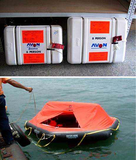 自動充氣式救生艇