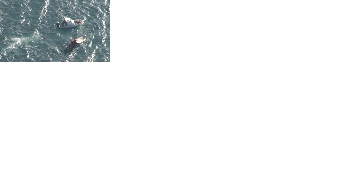 空勤總隊執行海上澎湖女子落海搜救照片