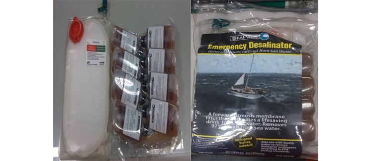 SEAPACK 海水淡化劑(圖片說明如上述內容)