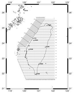 93年空載重力航線圖