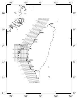 97年空載重力航線圖