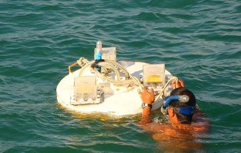 GPS浮標驗證潮位模式作業