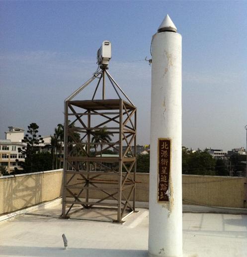 水氣微波幅射計於雲林縣北港地政事務所觀測情形