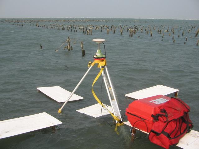 潮間帶航測標觀測作業