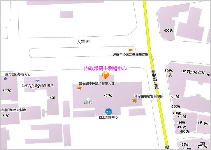 本中心地圖