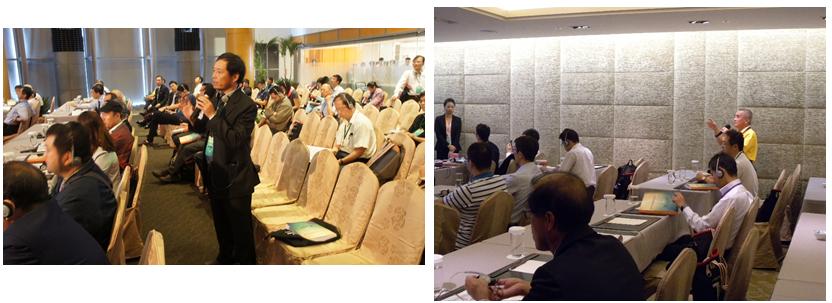 研討會參加人員與論文發表人員提問交流