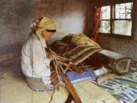 The weaving skill of the Taroko people is the best of aborigines in Taiwan. It was once used as a standard to evaluate women's social status.