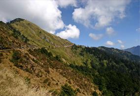 合歓山エリアは中央山脈主稜北端に属し、標高3000メートルを超える。