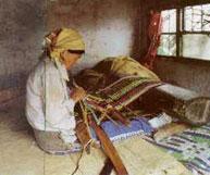 太魯閣族の女性の社会的地位は機織の技術の良し悪しで決まりました。