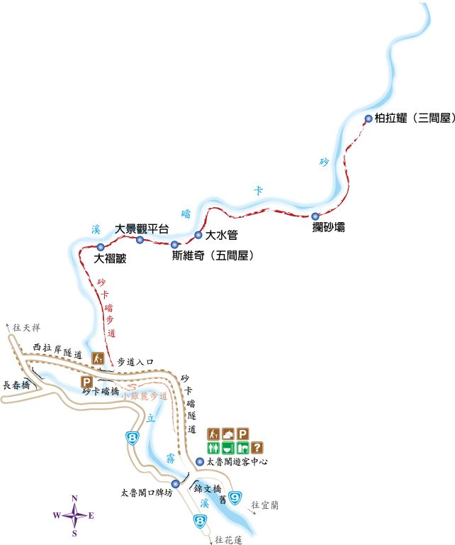 砂卡礑步道地圖