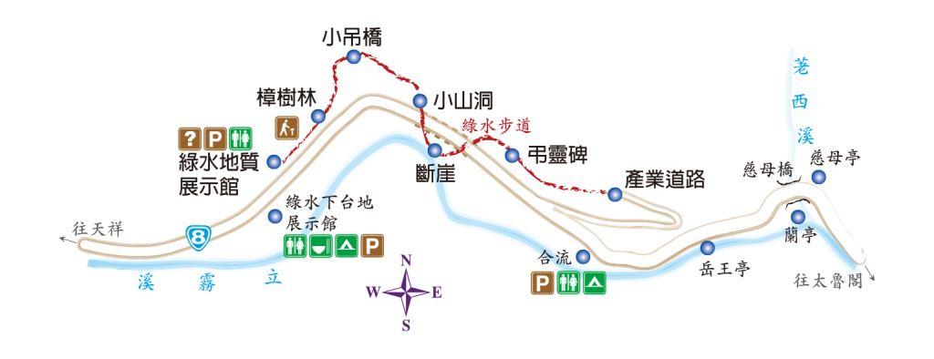 綠水步道路線圖