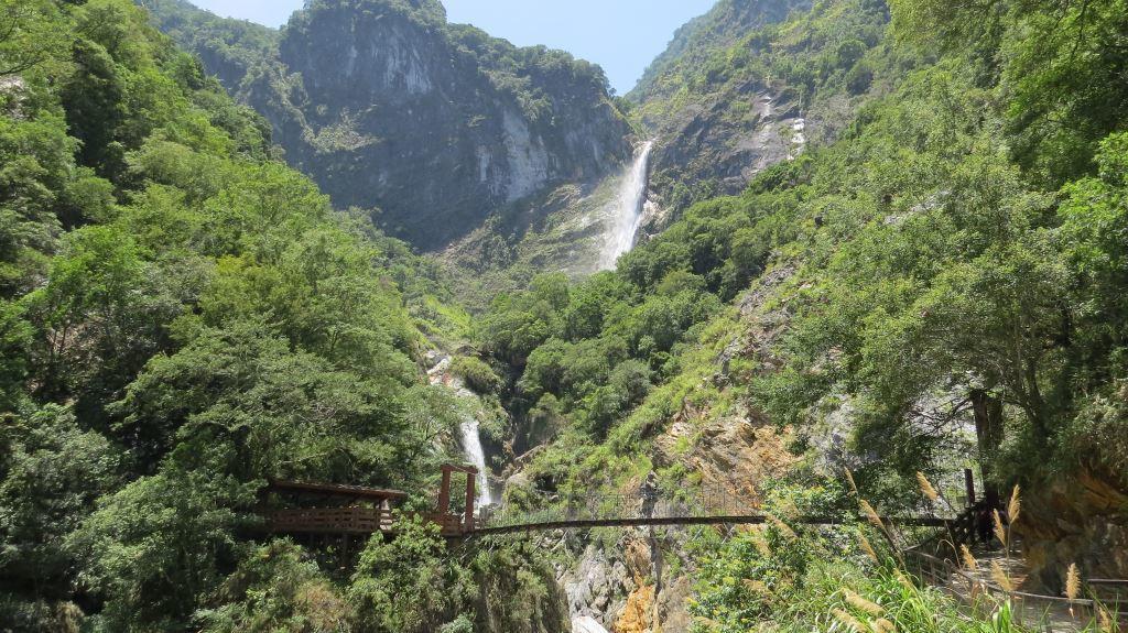 A view of Baiyang Trail Suspension Bridge(.jpg)