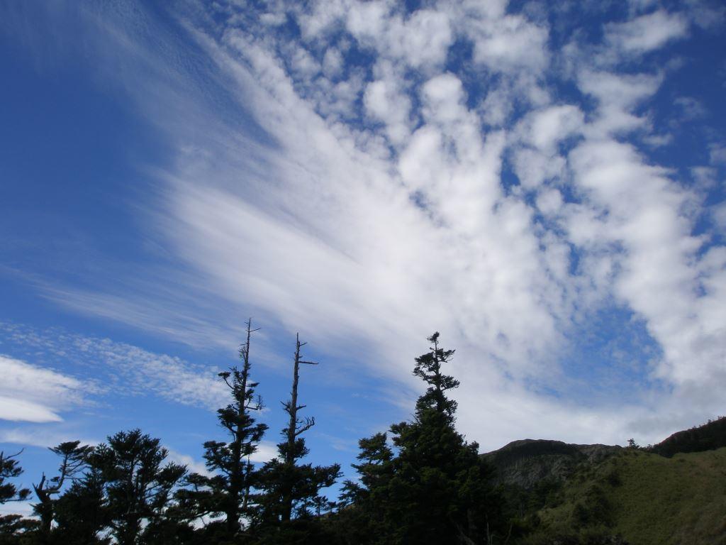 Mt. Hehuan North Peak overlooks the small wind vent