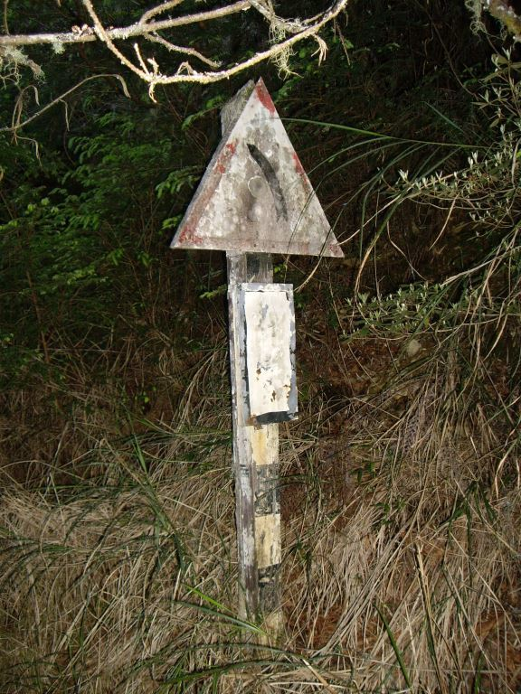 Mt. Bilu Trail Road Sign