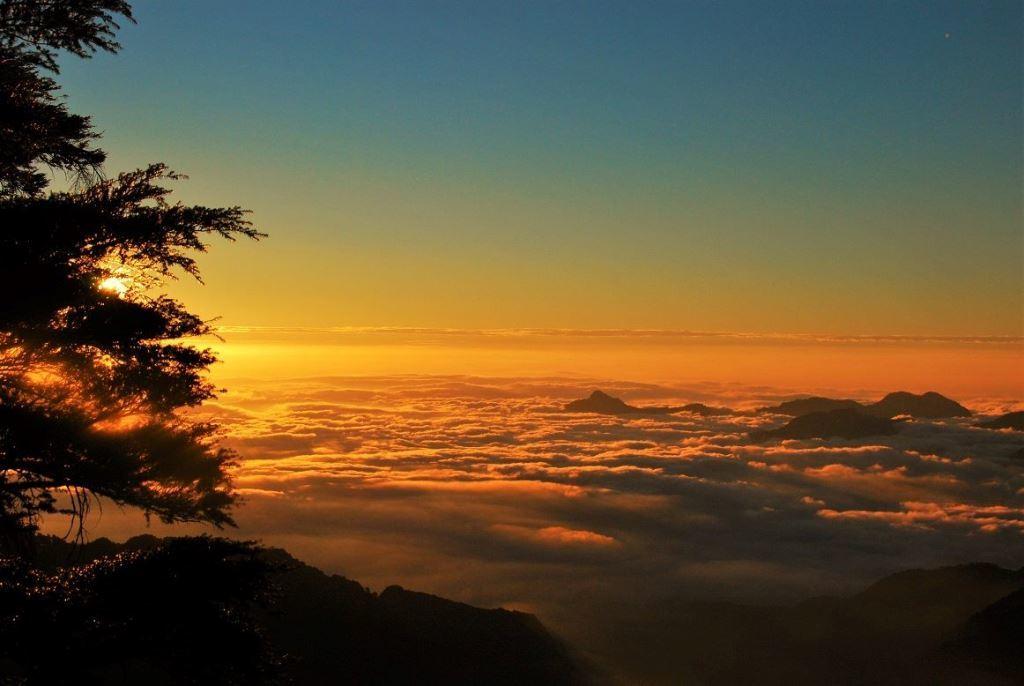 Mt. Zhongyangjian sunset