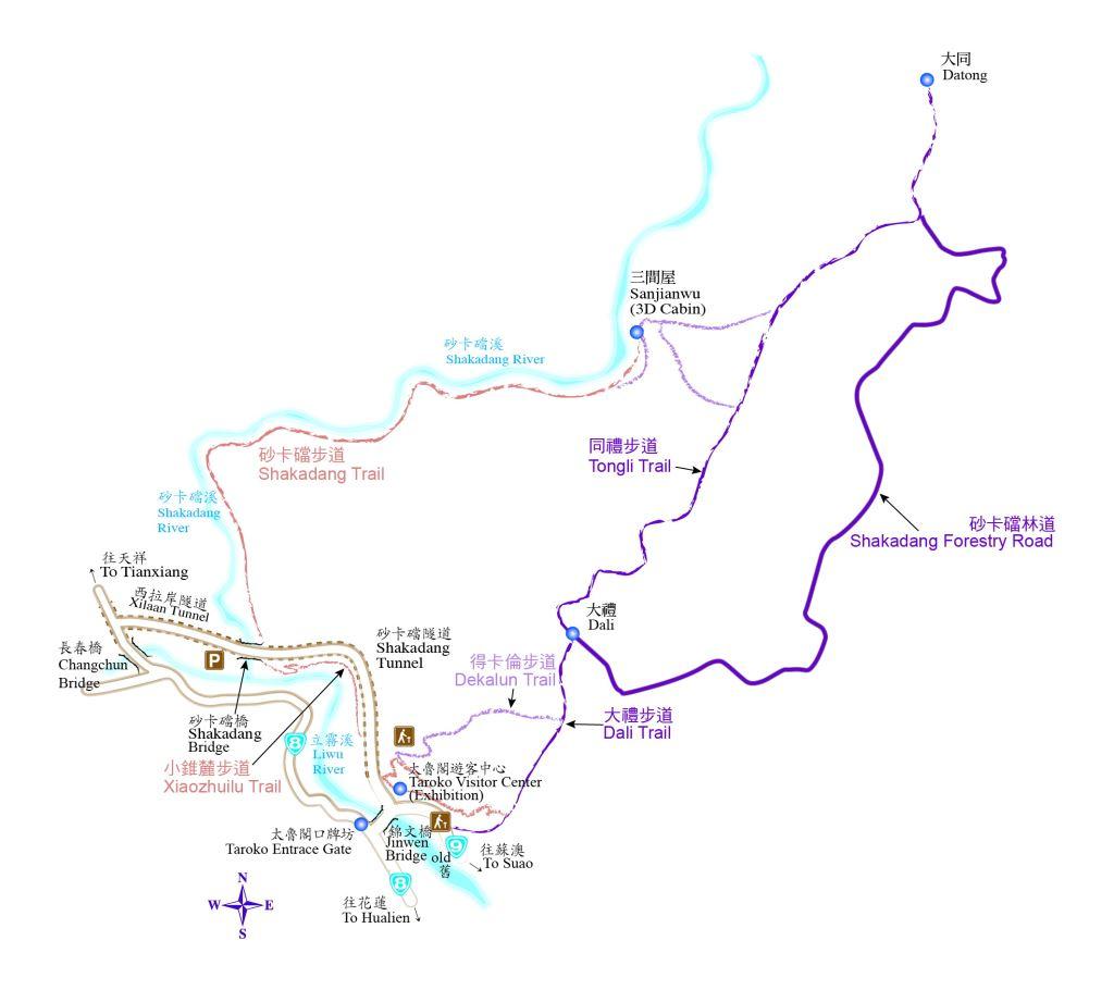 Dali Datong Trail  Map