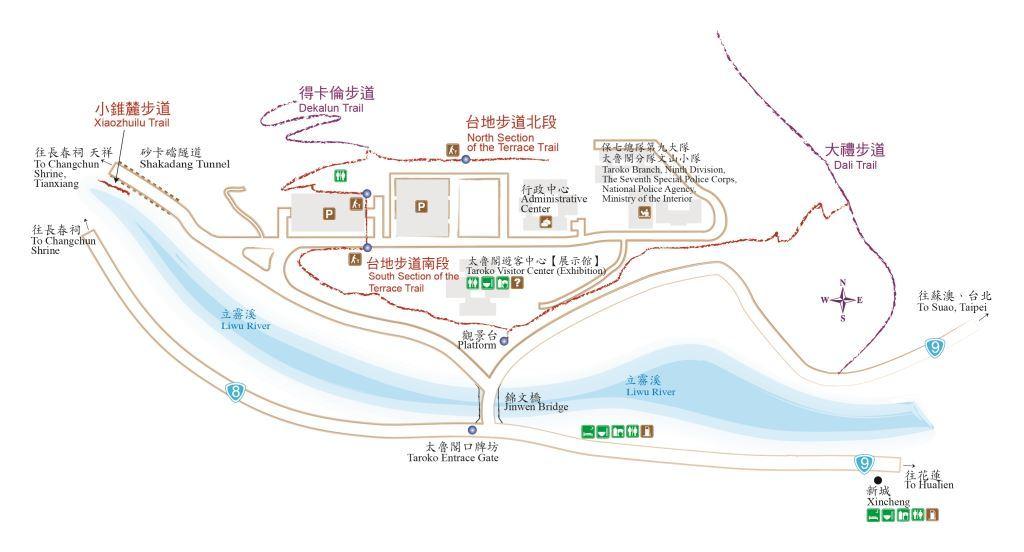 太魯閣台地地圖