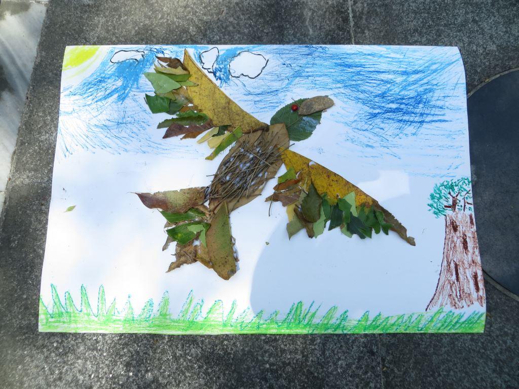 諾瓦國小環境教育圖片共8張-森林探索趣樹葉拼貼作品集(.jpg)