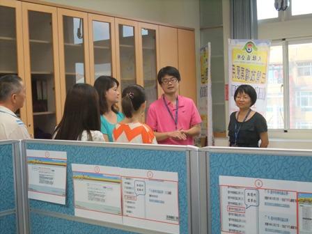 由本中心翁秘書子涵率同檔案管理人員了解大肚區公所檔案應用作業