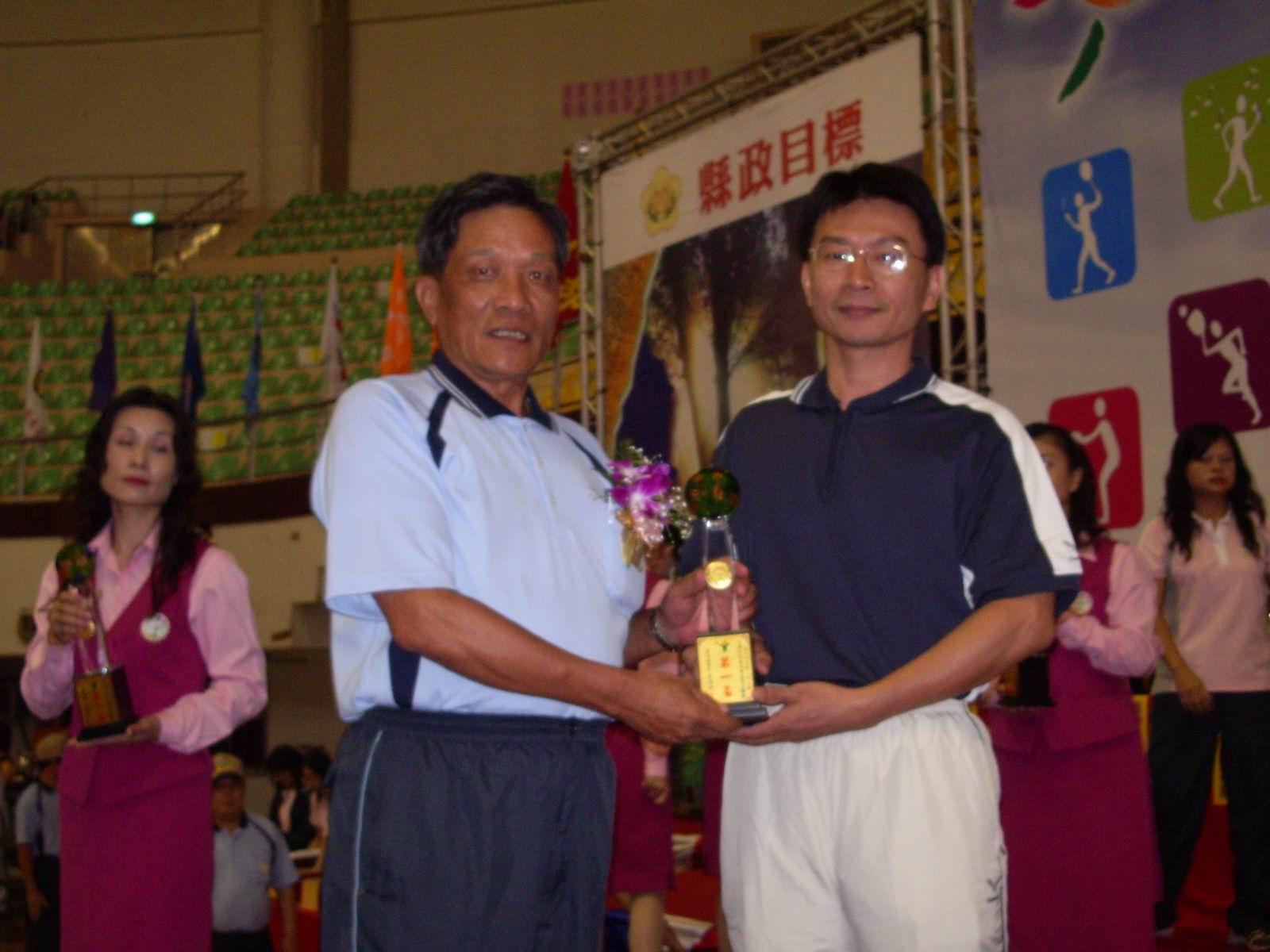 內政部榮獲男子桌球主管第一名