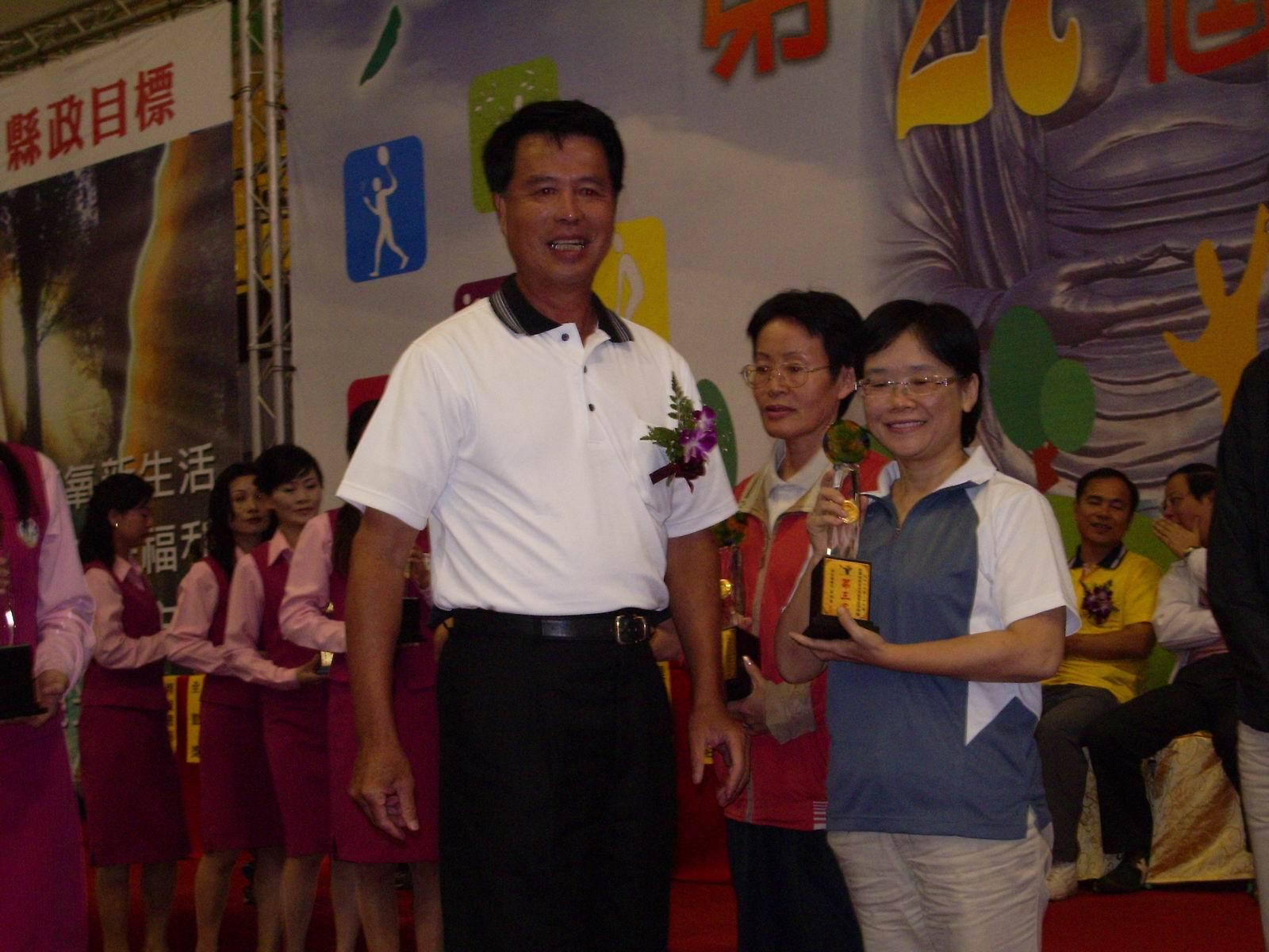 內政部榮獲女子桌球第三名